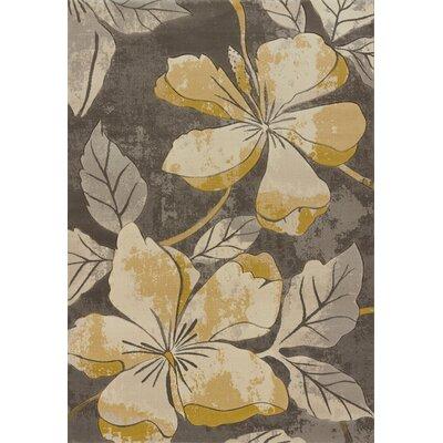 Ganley Floral Canvas Area Rug Rug Size: 710 x 106