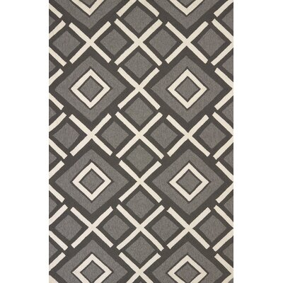 Atrium Handmade Gray and White Indoor/Outdoor Area Rug Rug Size: 5 x 76