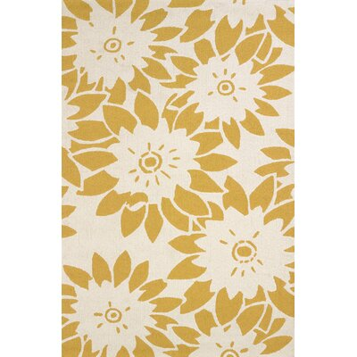 Atrium Handmade Yellow Indoor/Outdoor Area Rug Rug Size: 5' x 7'6