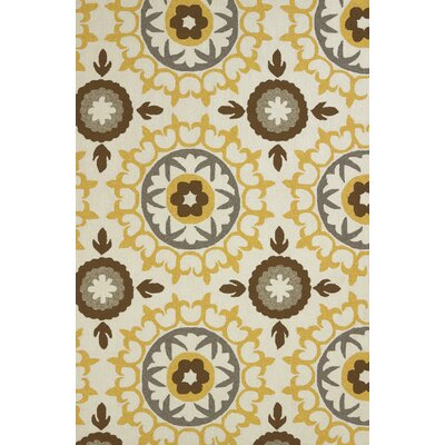 Atrium Handmade Orange and White Indoor/Outdoor Area Rug Rug Size: 710 x 910