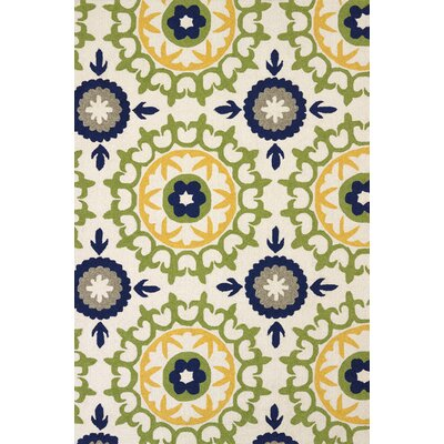 Atrium Hand-Woven Green/Blue Indoor/Outdoor Area Rug Rug Size: 110 x 3