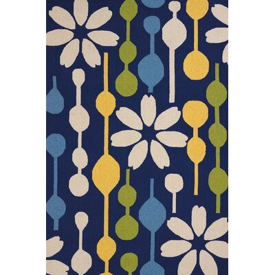 Atrium Handmade Navy Indoor/Outdoor Area Rug Rug Size: 5 x 76