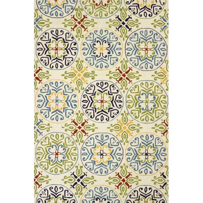 Atrium Handmade White Indoor/Outdoor Area Rug Rug Size: 5 x 76