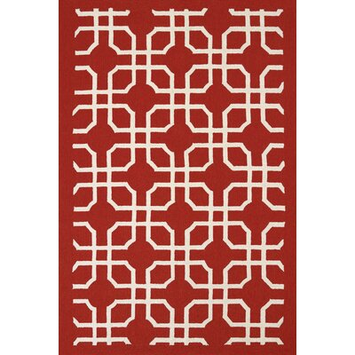 Atrium Handmade Red Indoor/Outdoor Area Rug Rug Size: 5 x 76