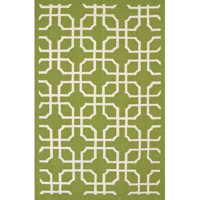 Atrium Handmade Green Indoor/Outdoor Area Rug Rug Size: 5 x 76