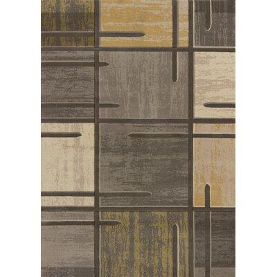 Rochelle Stiletto Grey Area Rug Rug Size: 53 x 72