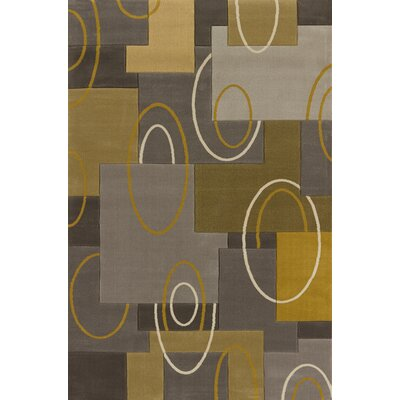 Dov Abstract Silver Area Rug Rug Size: 53 x 72