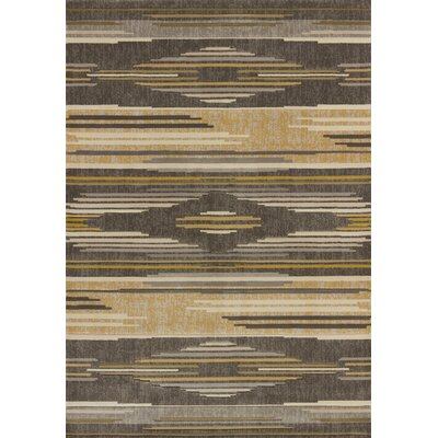 Ganley Native Chic Grey Area Rug Rug Size: 27 x 72