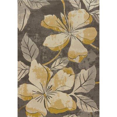 Ganley Floral Canvas Area Rug Rug Size: 27 x 72