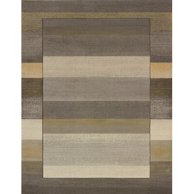 Dov Striped Grey Area Rug Rug Size: 710 x 106
