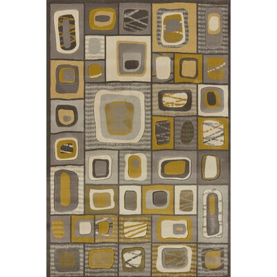 Rochelle Marrakesh Grey Area Rug Rug Size: 710 x 106