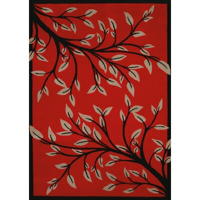 China Garden Belladonna Red Area Rug Rug Size: 53 x 72
