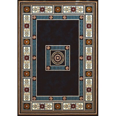 Antiquities Blue/Brown Area Rug Rug Size: 53 x 72