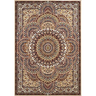 Antiquities Brown/Beige Area Rug Rug Size: 53 x 72