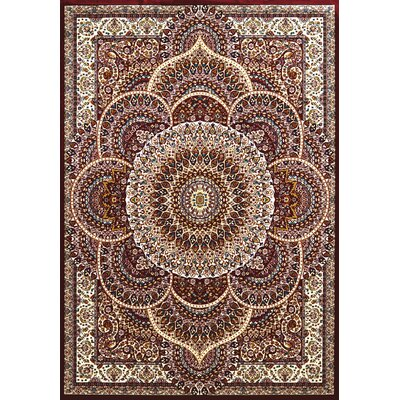 Antiquities Red/Beige Area Rug Rug Size: 53 x 72