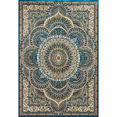 Antiquities Blue/Beige Area Rug Rug Size: 710 x 106