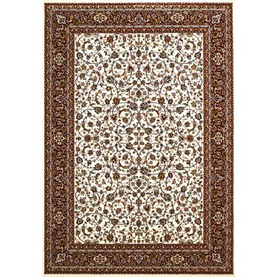 Antiquities Beige/Red Area Rug Rug Size: 53 x 72