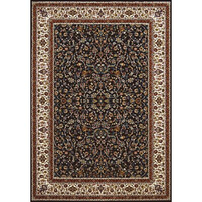 Antiquities Black/Brown Area Rug Rug Size: 53 x 72