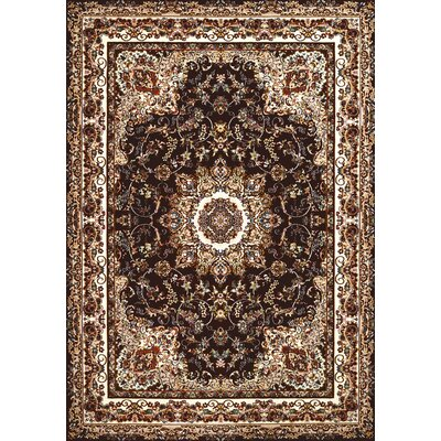 Antiquities Dark Brown/Beige Area Rug Rug Size: 53 x 72