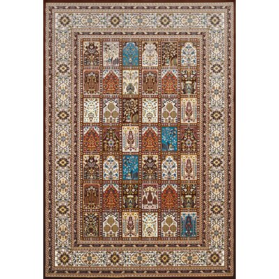 Antiquities Mecca Brown/Beige Area Rug Rug Size: 53 x 72
