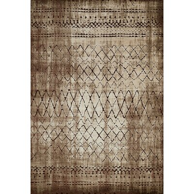 Lucid Brown Area Rug Rug Size: 111 x 72