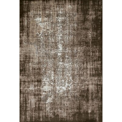 Dark Brown Area Rug Rug Size: 53 x 72