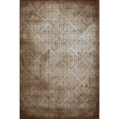 Devonshire Brown Area Rug Rug Size: 53 x 72