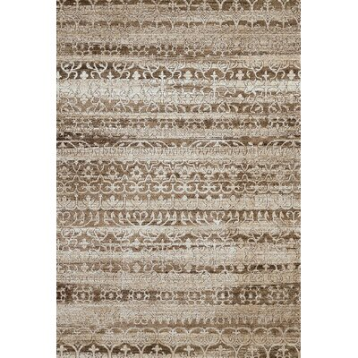 Claasic Beige Area Rug Rug Size: 53 x 72