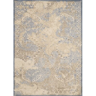 Dais Blue/Brown Area Rug Rug Size: 53 x 72
