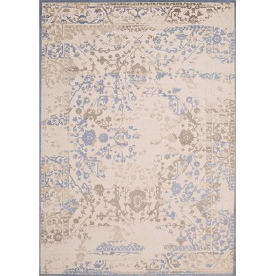 Dais Brown/Blue Area Rug Rug Size: 53 x 72