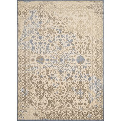 Dais Brown/Blue Area Rug Rug Size: 111 x 72