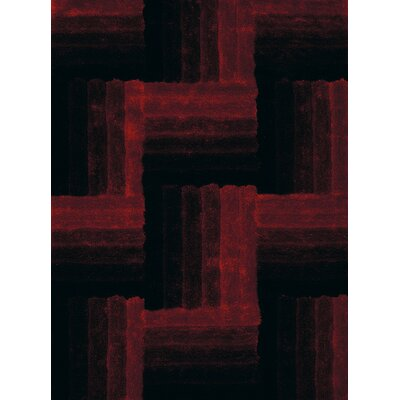 Finesse Hand-Woven Red Area Rug Rug Size: 110 x 3