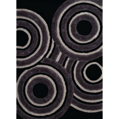 Finesse Hand-Woven Black Area Rug Rug Size: 110 x 3