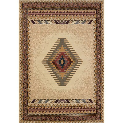 Manhattan Tucson Cream Area Rug Rug Size: 110 x 3