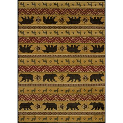 Affinity Nordic Bear Spice Area Rug Rug Size: 1' 11