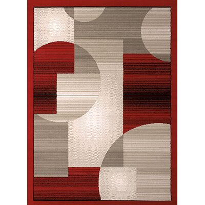 Dallas Zoom Zoom Red/Gray Area Rug Rug Size: 53 x 72
