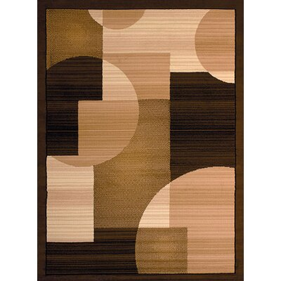 Dallas Zoom Zoom Brown/Beige Area Rug Rug Size: 53 x 72