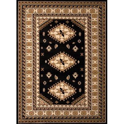 Dallas Tres Black/Brown Area Rug Rug Size: 710 x 106