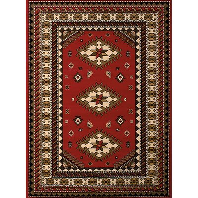 Dallas Tres Red Area Rug Rug Size: 53 x 72