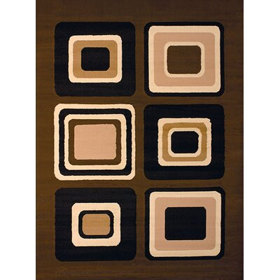 Dallas Spaces Brown Area Rug Rug Size: 1'11