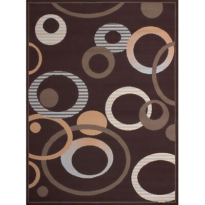 Dallas Hip Hop Chocolate Area Rug Rug Size: 111 x 33