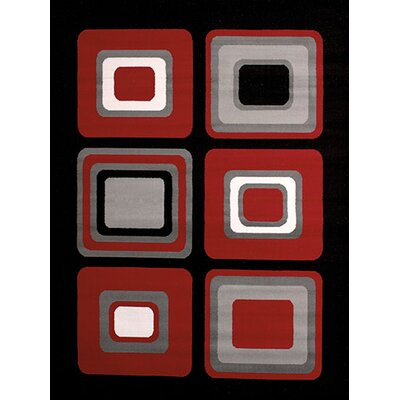 Dallas Spaces Red/Gray Area Rug Rug Size: 23 x 72