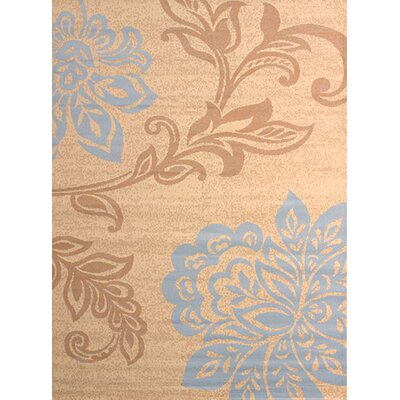 Dallas Trouseau Blue/Beige Area Rug Rug Size: 53 x 72