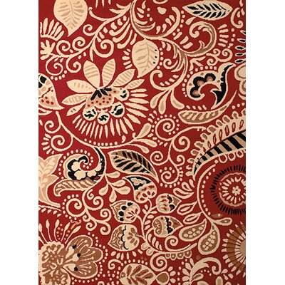 Brent Red Area Rug Rug Size: 111 x 33