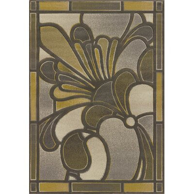 Contours Frosted Pane Grey Area Rug Rug Size: 710 x 106