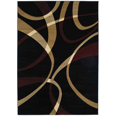 Rochelle LaChic Onyx Area Rug Rug Size: 53 x 76