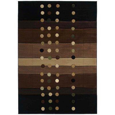 Ganley Cascades Chocolate Rug Rug Size: Runner 27 x 74