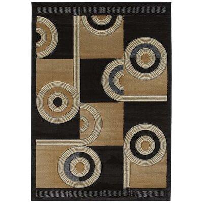 Ganley Spiral Canvas Chocolate Rug Rug Size: 710 x 106