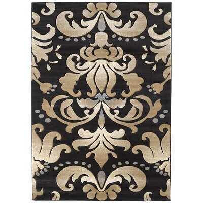 Amera Lotus Dark Chocolate Rug Rug Size: 110 x 3