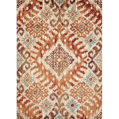 Randolph Orange Area Rug Rug Size: 53 x 72